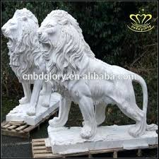 outdoor lion statue garden decoration stone carving big for small statues