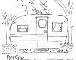 Camper Trailer Coloring Pages Printable Wwwpicturesbosscom