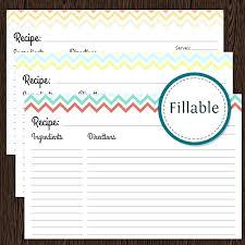 Recipe Card Templates Free Fillable Recipe Card Template