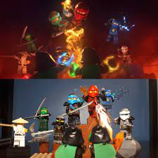I recreated all the group shots in the intros of seasons 1-7 (skybounds  theme doesn't have one) : Ninjago