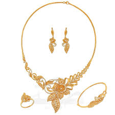 Dubai Gold Designs Catalogue Full Set A5935 Full Sets 21k Jewellery Gold Collection