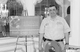 rick nicolini imperial locksmiths exhibits at the chamber business showcase during the reception period