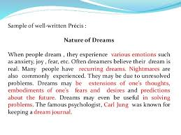 dream essay co dream essay precis writing