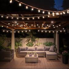 Pergola String Lights Amazon Com Led Globe String Lights With Clear Bulbs 60lm