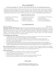 Gallery Of Retail Store Manager Resumes Examples