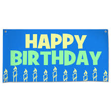 Happy Birthday Signs To Print Happy Birthday Candles Blue