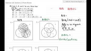A U B U C Venn Diagram Using Venn Diagrams To Give Visual Proof Video 1 Of 2