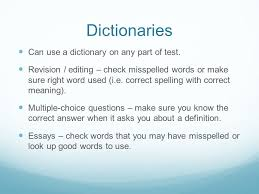 english ii eoc writing make up of test revising editing  dictionaries can use a dictionary on any part of test