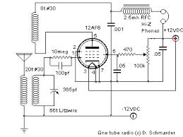 dave s homemade radios tube radio schematic selector 12af6 one tube radio schematic