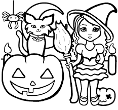 Halloween Coloring Pages For Preschoolers Easy