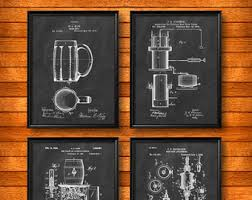 Beer Brewing Wall Art Print Set Of 3 Beer Making Wall ArtBeer Home Decor