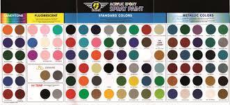 Bosny Spray Paint Color Chart Rj London Professional Paint