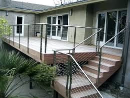 steel cable railing. Deck Railing Cable Railings Stainless Steel N