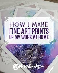 how i make fine art prints of my work