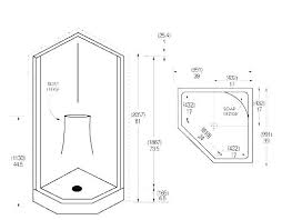 minimum shower dimensions post room ada handicap standard
