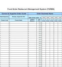 Kitchen Equipment Inventory Template Restaurant Food Inventory