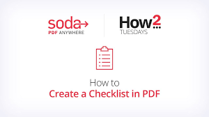 How To Create A Checklist In Pdf Youtube