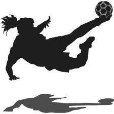 Image result for girl kicking soccer ball clip art