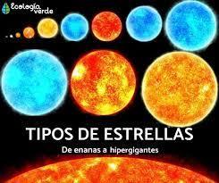 "EcologíaVerde on Twitter: ""Tipos de estrellas https://t.co/DnIXprdR12  #curiosidadesdelatierrayeluniverso… """