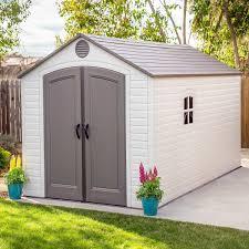 lifetime 8 x 15 plastic storage shed kit 2 windows