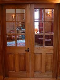 interior door half broadleaf timber