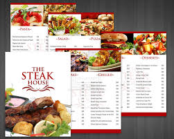 Food Menu Design Custom Restaurant Food Menu Printing Virginia Maryland Dc