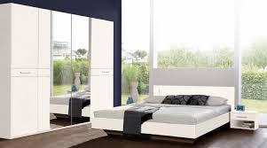 Schlafzimmer Set Komplett Petra Kleiderschrank Spiegel 4 Teilig Weiß