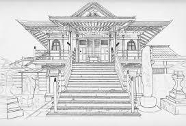 modern architecture drawing. Modern Concept Ancient Japanese Architecture Drawing WIP Temple By XMizu Kun