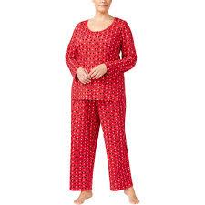 Charter Club Womens Plus Size Printed Knit Pajama Set 3x