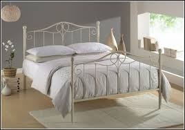 Nice White Wrought Iron Bed
