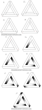 Triangle Design Drawing Easy How To Draw An Impossible Triangle Easy Step By Step