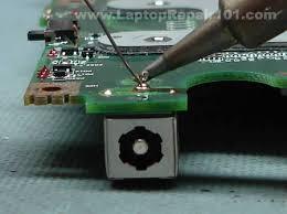 dc power jack repair guide laptop repair  removing er