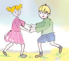 Ronde d'enfant ou danse d'enfant sur Tête à modeler