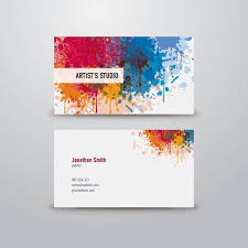 Namecard Format Artist Business Card Graphic Available In Eps Vector Format