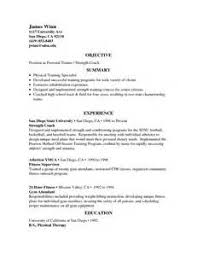 sample resume strength and conditioning coach resume sles - Strength And Conditioning  Resume Examples