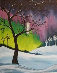 snowy owl paint party