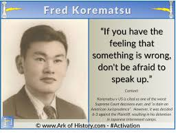 Fred Korematsu Quotes New QUotesFred Korematsu Don't Be Afraid To Speak Up Ark Of History