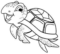 Cute Sea Turtle Coloring Pages Coloringstar