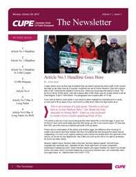 Newsletter Templates Pages Newsletter Templates Canadian Union Of Public Employees