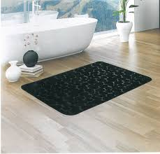 formality and sobriety black bathroom rugs