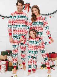 Christmas Geometric Pattern Family Pajama Sets Pajamas - Free Shipping, Discount and Cheap Sale