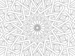 Traditional Islamic Mosaic Coloring Page Free Printable Islamic