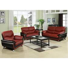 star home living two tone brown and black leather three piece sofa set