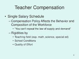 Teacher Compensation Michael Podgursky Department Of