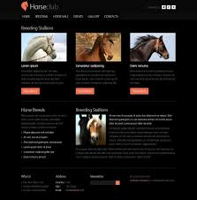 template horse free website template horse club