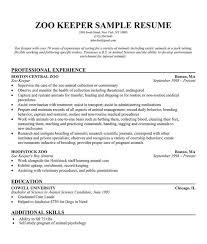 Zoo Keeper CV