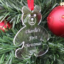 personalised baby first christmas tree decoration bauble gift
