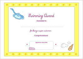 Printable Award Template Certificates For Kids Literals Browser