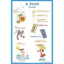 Amazon Com Italian Language Poster Weather Bilingual