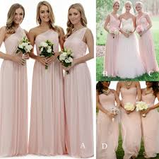 Light Pink Bridesmaid Dresses Long Long Bridesmaid Dress Light Pink Bridesmaid Dresses Mismatched Bridesmaid Dress Elegant Bridesmaid Dress Wedding Party Dress Pd21123 From Bellabridal